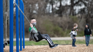 Images of child on a swing